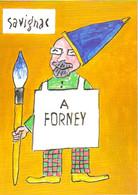 Carton D'invitation à L'exposition : Savignac à Forney (2001) - Advertising