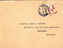 1944- Enveloppe Ouverte ( Imprimés ) Affr. Coq 50 C SEUL  N°633   De PARIS-110 - Sin Clasificación