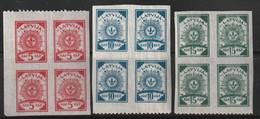 LETTONIE - N°10/11/12 ** (1919) Papier Mince : Dentelé 9.3/4 - - Lettonie