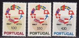 Portugal, 1967, EFTA, 3 Stamps - Organisaties