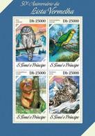 SAO TOME - 2014 - Red List - Perf 4v Sheet - M N H - São Tomé Und Príncipe