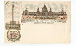 Antwerpen Souvenir De L'Exposition Universelle 1894 PK Anvers CPA - Antwerpen
