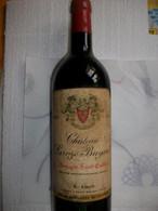 BOUTEILLE DE VIN PLEINE . CHATEAU LAROZE - BAYARD . MONTAGNE SAINT-EMILION . 1972 . LAPORTE . PROPRIETAIRE  A  BAYARD - Vin