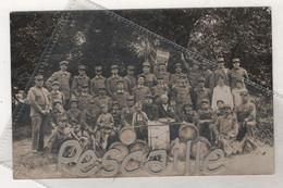 MILITARIA 76 SEINE MARITIME - CARTE PHOTO ANIMEE CLAIRONS TROMPETTES DE L'UNION DE SAINT PIERRE LES ELBEUF EN 1933 - - Other Municipalities