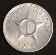 CUBA - 1 CENTAVO 1970 - KM 33 - Cuba