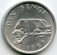 CONGO  10 Sengi 1967 - Congo (Republic 1960)
