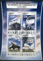 Djibouti 2016 DJ003 Transport Services - 40 Years Of Concorde Commercial Service. Aviation - Djibouti (1977-...)