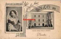 Saluti Da Caserna Militare Chiesa S-Domenico - Nicastro - Italy