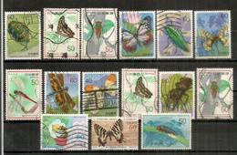 JAPON. Insectes Du Japon, Lot De Beaux Timbres Oblitérés, Bonne Qualité. Lot # 4 - Alla Rinfusa (max 999 Francobolli)