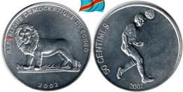 CONGO  50 Centimes 2002 - Congo (Republic 1960)