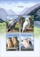 SAO TOME - 2014 - Owls - Perf 4v Sheet - M N H - São Tomé Und Príncipe
