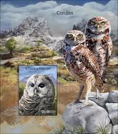 SAO TOME - 2014 - Owls - Perf Souv Sheet - M N H - São Tomé Und Príncipe