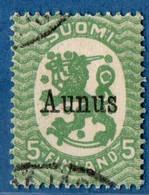 Finland Suomi Aunus 1919 5 Pen 1 Val Cancelled  2009.2038 - Finlande
