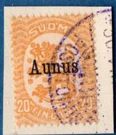 Finland Suomi Aunus 1919 20 Pen 1 Val Cancelled  2009.2040 - Finlande
