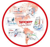 France 2020 Sport Taekwondo Sailing Rowing Athletics Badminton ROUND Ms6v Mnh - Nuovi