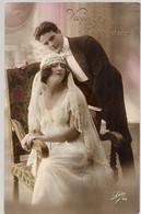 SUPERBE CARTE DE MEILLEURS VOEUX DE BONHEUR A L'OCCASION D'UN MARIAGE *  COLORISEE  * - Marriages