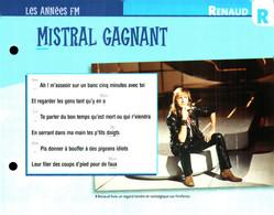 """R) """"Renaud"""" Carte Chanson Par Ordre Alphabétique De Chanteur (format 19 X 15 Recto Verso) Collection ATLAS - Scores & Partitions"""