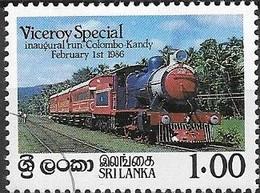 SRI LANKA 1986 Inaugural Run Of 'Viceroy Special' Train From Colombo To Kandy - 1r Viceroy Special Train FU - Sri Lanka (Ceylon) (1948-...)