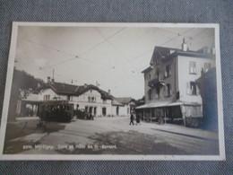 Martigny   Gare Et Hotel St Bernard   ( Carte Photo ) - VS Wallis