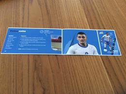 Autocollant, Sticker Carrefour «N°14 -Panna Cotta (recette) / MARCO VERRATTI (football)» 3 Pièces - Vignettes Autocollantes