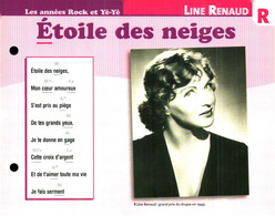 """R) """"Renaud Line"""" Carte Chanson Par Ordre Alphabétique De Chanteur (format 19 X 15 Recto Verso) Collection ATLAS - Scores & Partitions"""