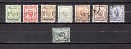 Montenegro   1893-94   Y&T  Nº   16/17-21-24/28 - Montenegro