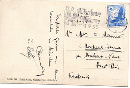 Munchener Feltsommer 1935 - Flamme Sur Carte Postale Postkarte - Non Classificati