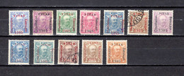 Montenegro   1905-06   Y&T  Nº   58/62-65-68-71/75     ( 61  Falta Punta  ) - Montenegro