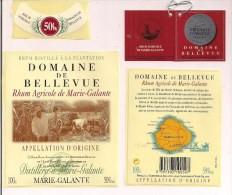 Etiquette  RHUM Blanc  Agricole  50% - Médaille Argent 2003 - Domaine De Bellevue,  - GUADELOUPE - - Rhum