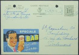 Belgium - Stamped Stationery Card 1955 Publibel Beer - Bières