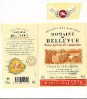 Etiquette  RHUM Blanc  Agricole  50% - Domaine De Bellevue, Capesterre De Marie Galante  - GUADELOUPE - - Rhum