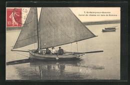 CPA St-Valéry-sur-Somme, Canot De Chasse En Baie De Somme - Non Classés