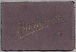 HU.- BUDAPEST. MAPJE MET 12 FOTO'S. MODERN. BPEST, TÜRVENYESEN VEDRE UTANNYOMAS TILOS. 1928. BRUGGEN. BRIDGE. - Ungheria