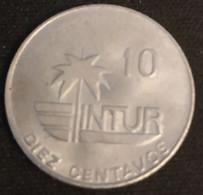"""CUBA - 10 CENTAVOS 1981 - INTUR - KM 415.1 - ( Avec """"10"""" - With """"10"""" ) - Cuba"""