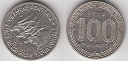 Afrique Centrale Etats De L'Afrique Equatoriale - 100 Francs 1966 - Coins