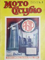 Rivista Motociclismo N. 30 - Agip Un Controllo Perfetto - 28 Luglio 1938 - Boeken, Tijdschriften, Stripverhalen