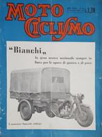 Rivista Motociclismo N. 43 - 22 Ottobre 1942 - Boeken, Tijdschriften, Stripverhalen