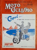 Rivista Motociclismo N. 32 / 33 - 6 / 13 Agosto 1960 - Boeken, Tijdschriften, Stripverhalen