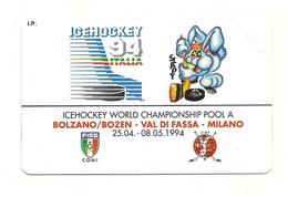 Italia - Tessera Telefonica Da 2.000 Lire N. 3 - Hockey Su Ghiaccio - Bilingue - Sport