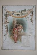 Rare Et Superbe Calendrier   De 1897 - 12 Illustrations Sur 12  Pages Cartonnés -   Shakespeare  -  Kalender  - Complet - Groot Formaat: ...-1900