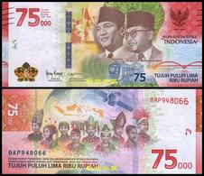 Indonesia 75000 Rupiah, (2020), Commemorative,  Paper, UNC - Indonesia