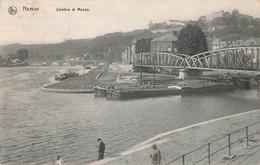 Belgique Namur Sambre Et Meuse Peche Pecheur à La Ligne Bateau Peniche + Timbre Cachet 1913 - Namur