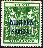 SAMOA 1945 KGVI 5s SG 208 Unmounted Mint MNH - Samoa