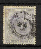 Puerto Rico 1880 - 25 C  Alfonso XII Usado - Puerto Rico