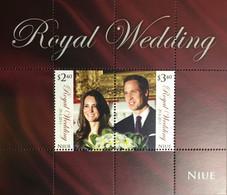 Niue 2011 Royal Wedding Minisheet MNH - Niue