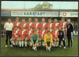 """Deutschland  Fortuna Düsseldorf ~1954 """" Die Mannschaft Mit Trainer Pp Vor Karstadt Reklame """" - Calcio"""