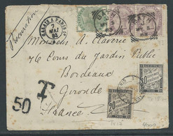 Brief Verstuurd  Uit Bath Naar Bordeaux 7.5.1883 Getaxeerd - Briefe U. Dokumente