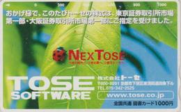 Rare Carte Prépayée JAPON - ANIMAL - COCCINELLE - LADYBIRD JAPAN Prepaid Tosho Card -  MARIENKÄFER Karte - 42 - Coccinelle
