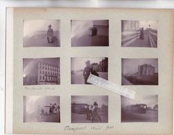 PHOTO - BELGIQUE - NIEUPORT - 9 Photos De 1901 Dont Deux TRAM à VAPEUR Format 5cm Sur 4 S - Nieuwpoort