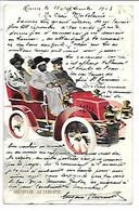 Cpa..illustrateur...(prince) Menelic Avec 3 Passagers Sur Automobile Dedion-Bouton...Aethiopie.(éthiopie)...1903.. - 1900-1949
